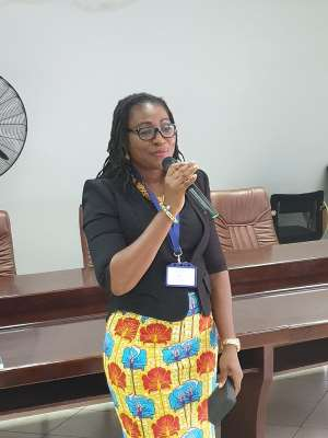 Mrs. Ethel Marfo the Founding Director of Junior Shapers Africa