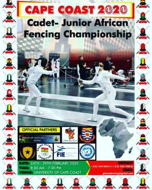 Ghana To Host African Cadet/Junior Fencing Championships At Cape Coast
