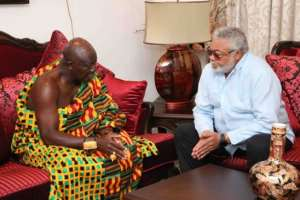Otumfuo Osei Tutu II was in Accra for the annual UPSA Leadership Lecture