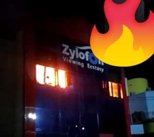 Breaking News: Fire Guts NAM1's Zylofon Tv Building [Video]