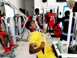 PICTURES: Hearts Of Oak Players Engage In Gym Work To Boost Fitness Levels