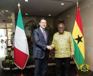 President Akufo-Addo with Italian Prime Minister, Guissepe Conte.