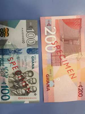 Answers To Questions About The New Gh¢100, Gh¢200 Banknotes