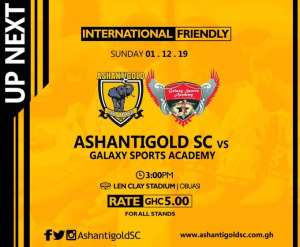 Ashgold Announce Friendly With Nigerian Side Galaxy Sports Academy On Sunday