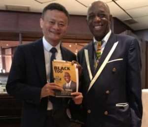 Dr. Thomas Mensah Presents 'The Right Stuff Comes in Black Too' Book To Jack Ma