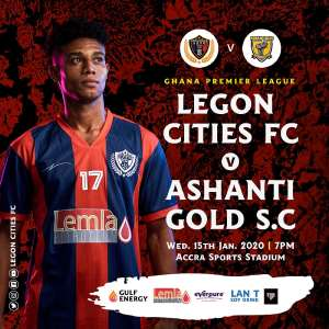 GPL Match Week 4: Legon Cities FC Unveil Ticket Prices For Ashanti Gold Clash