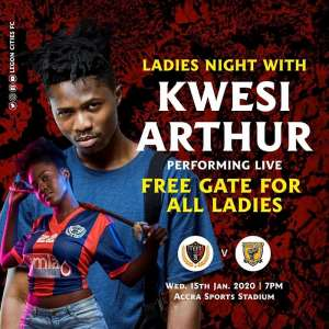 GHPL: Kwesi Arthur To Perform At Legon Cities FC Clash With Ashgold