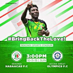Hasaacas Announce Pre-Season Friendly With Olympics On November 10