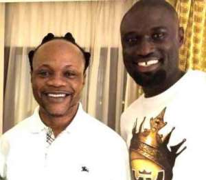 Daddy Lumba (left) in a pose with Roman Fada