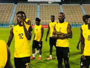 PICTURES: Black Meteors Train Ahead Of CAF U-23 AFCON Opener