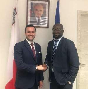Kurt Okraku Holds Meeting With Malta High Commissioner to Ghana