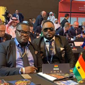 Ghana Bodybuilding And Fitness Executive /Athletes At IFBB World Championship In UAE