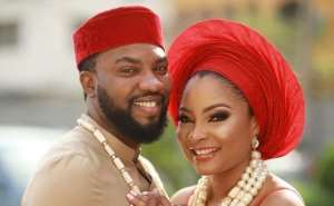 Stunning Wedding Photos of Actress, Linda Ejiofor with Lover