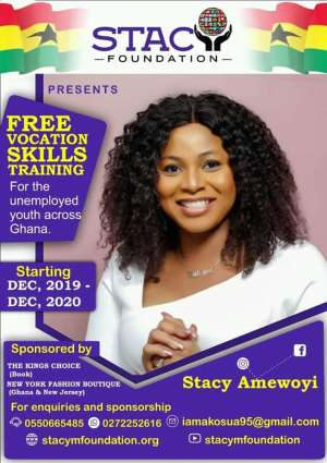 Stacy Foundation To Bring Free Skill Training Program To All Regions
