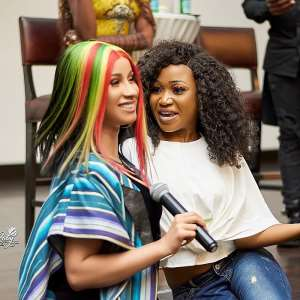 Cardi B Follows Akuapem Poloo On Instagram; Calls Her Twin Sister