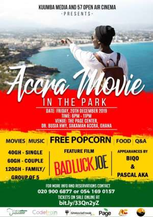 Three Things to expect at 'Accra Movie in the Park'.