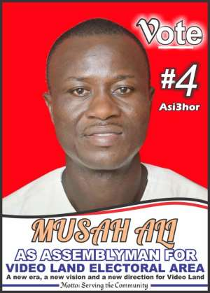 Hon. Musah Ali, an aspirant for the Videoland Electoral Area Assembly Elections.