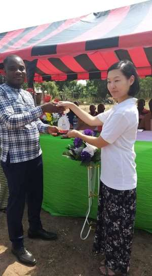 Kwahu East DCE Commissions Mechanized Borehole At Hyewohoden