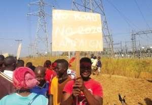 Bolgatanga Youth Protest Bad Roads
