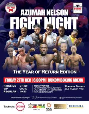 Azumah Nelson Fight Night – The Year Of Return Edition On December 27 At Bukom Boxing Arena