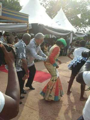 Rawlings Dancing with wife