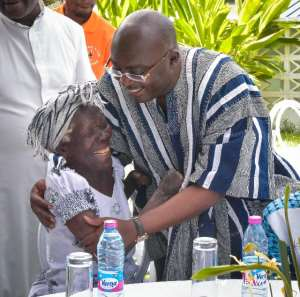 Dr. Mahamudu Bawumia pictured with a guest at the celebration