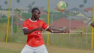 George Abege Scores As Asokwa Deportivo Hold Asante Kotoko In A Friendly