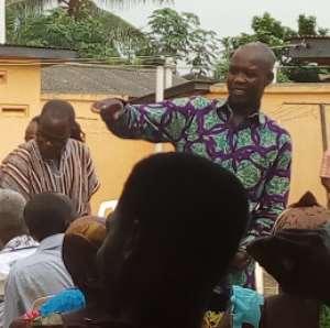 Member of Parliament (MP) for Akatsi South constituency in the Volta Region Hon. Bernard Ahiafor