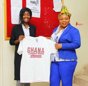 Elizabeth Alhassan Leads Football Fans Walk To Create Awareness On Ghana Leagues