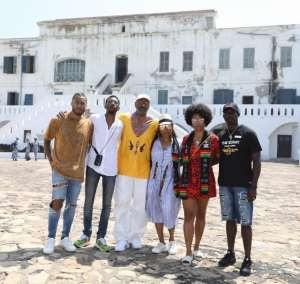 When Steve Harvey, an American entertainer, visited the Cape Coast Castle in the Central region with his family