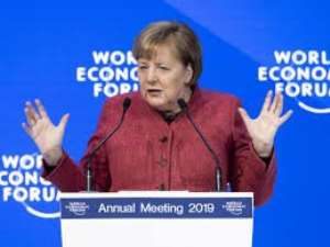 Davos: Merkel Want Reforms to IMF, World Bank to Restore Financial System Confidence