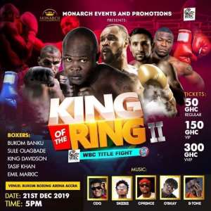 Bukom Banku Returns To Bukom Boxing Arena On December 22 For 'King Of The Ring 2' Bill