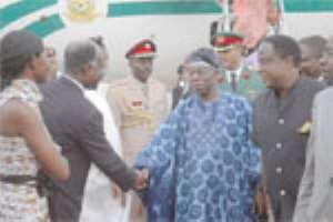 Kufuor Honours Obasanjo