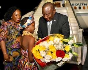 South Africa's Prez Ramaphosa In Ghana