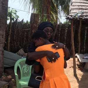 Dzifa Gomashie Visits Pregnant Students At Gamadzra Basic School