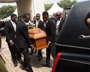 [Photos] Mahama, Bawumia, Others Attend Alex Mould Daughter's Burial Today