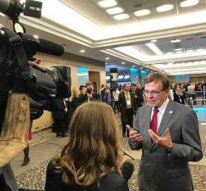 Dr Mario Raviglione in Moscow, Russia at the WHO Global Ministerial Conference