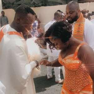 Kaakie dancing with her high school mate, now husband, Kweku