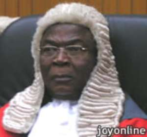 Chief Justice Acquah goes home