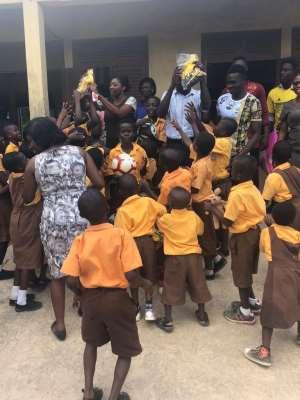 Rashid Sumaila Donate Jerseys, Balls To Antem Basic School