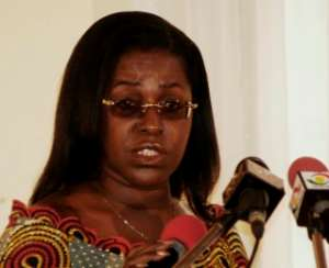 Mrs Oboshie Sai Cofie, Minister for Information and National Orientation