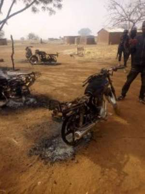 Chereponi Residents Burn Tyres In Protest Of Curfew