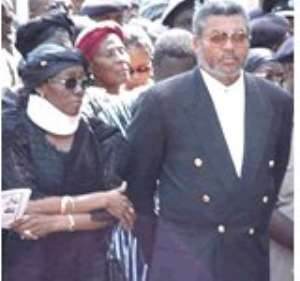Jerry Rawlings Pitches Camp With Wife