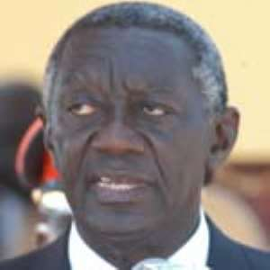 President Kufuor arrives from France