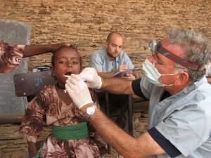 Dental students offer free check ups for Asikuma-Odeben residents