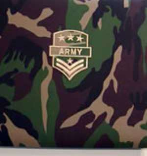 Military inspects blasted object at Ashaiman