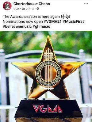 CharterHouse Open Nominations For VGMA 2020