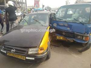 Passengers Involve In Car Crash On Graphic Road