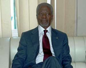 Kufuor Congratulates Kofi Annan On 70th Birthday