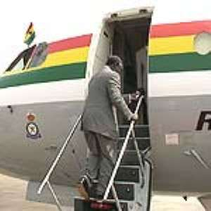 Prez Kufuor leaves for London